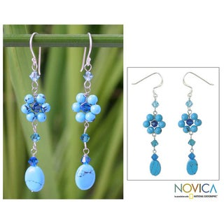 Sterling Silver Turquoise Sweet Blue Eternal Earrings (Thailand)