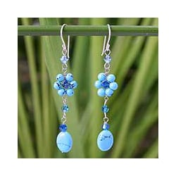 Sterling Silver Turquoise Sweet Blue Eternal Earrings (Thailand)