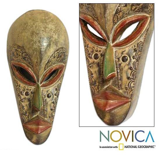 Wood 'Forgive Me' Mask (Ghana)