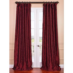 Patterned Faux Silk Taffeta Curtain Panel
