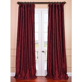 Exclusive Patterned Faux Silk Taffeta 108-inch Curtain Panel