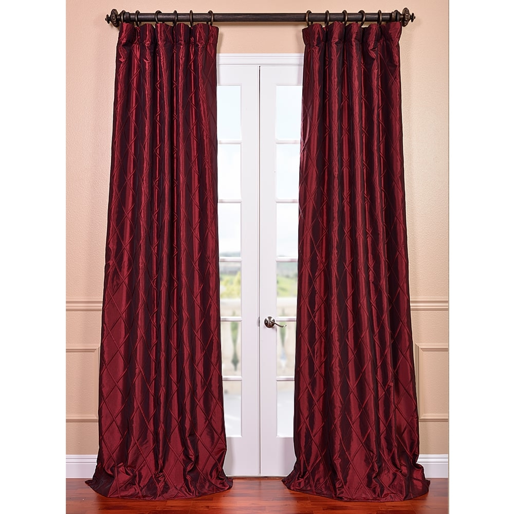 EFF Red Exclusive Patterned Faux-Silk 120-Inch Curtain Panel
