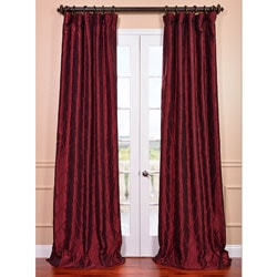 Red Exclusive Patterned Faux-Silk 120-Inch Curtain Panel