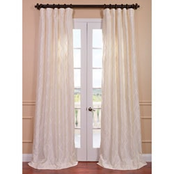 EFF Exclusive Patterned Faux Silk 84-inch Curtain Panel