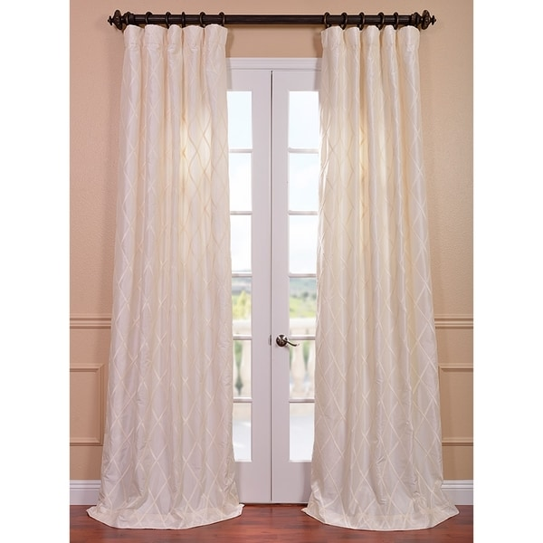 Exclusive Fabrics Exclusive Patterned Faux Silk 84-inch Curtain Panel