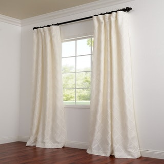 Exclusive Patterned Faux Silk 84-inch Curtain Panel