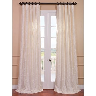 Exclusive Patterned Faux Silk 96-inch Curtain Panel