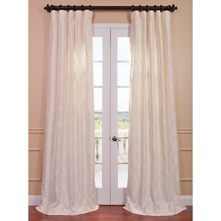 Exclusive Patterned Faux Silk 108-inch Curtain Panel
