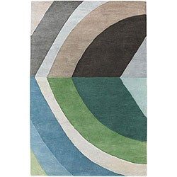 Hand-tufted Mandara Blue/ Green Wool Rug (7'9 x 10'6)