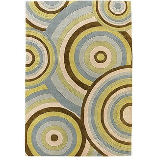 Hand-tufted Pixar Brown Wool Rug (5' x 7'6)