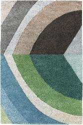 Hand-tufted Mandara Blue/ Green Wool Rug (7'9 Round)