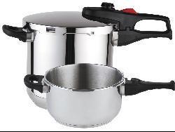 Magefesa Practika Plus Stainless Steel 3-piece Pressure Cooker Set