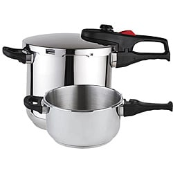 Practika Plus Stainless Steel 3-piece Pressure Cooker Set