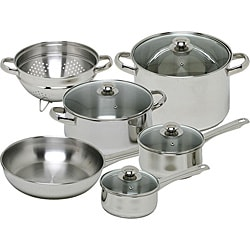 Magefesa Vesta 10-piece Stainless Steel Cookware Set