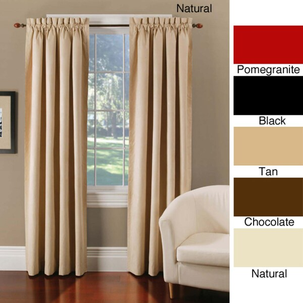 Thermal-backed Faux Suede Blackout Curtain Panel Pair
