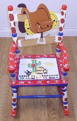 Kids' Cowboy Rocking Chair