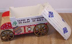Kids' Cowboy Carriage Storage Toy Box