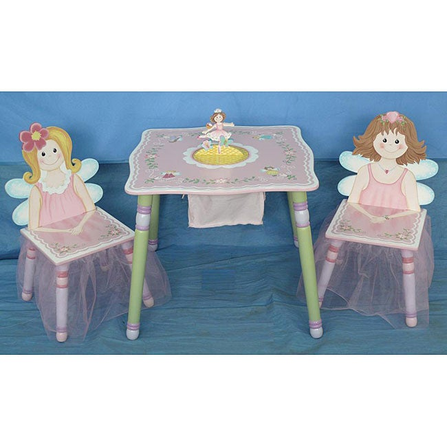 Flower Fairy Kids 39 3 Piece Table And Chair Set 12066987