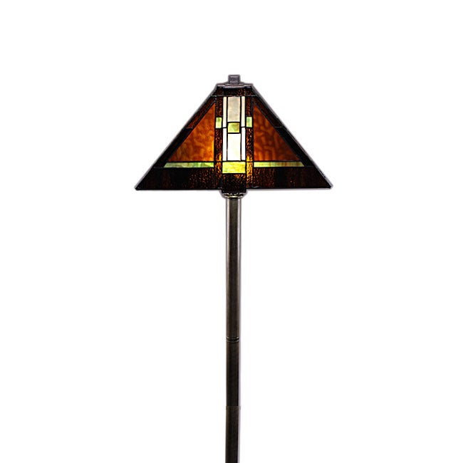 Tiffany-style Mission Floor Lamp
