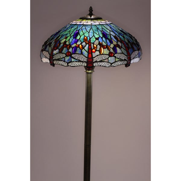 tiffany style dragonfly floor lamp 12067020 shopping. Black Bedroom Furniture Sets. Home Design Ideas