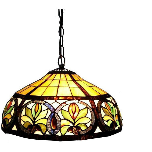 tiffany style hanging lamp overstock shopping great deals on. Black Bedroom Furniture Sets. Home Design Ideas