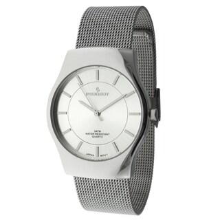 Peugeot Men's 1002SL Silvertone Mesh Strap Watch