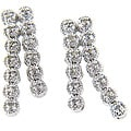 Finesque Sterling Silver 1/4ct TDW Diamond Earrings (J-K, I3)