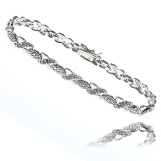 Finesque Sterling Silver 1/2ct TDW Diamond Bracelet (J-K, I3)