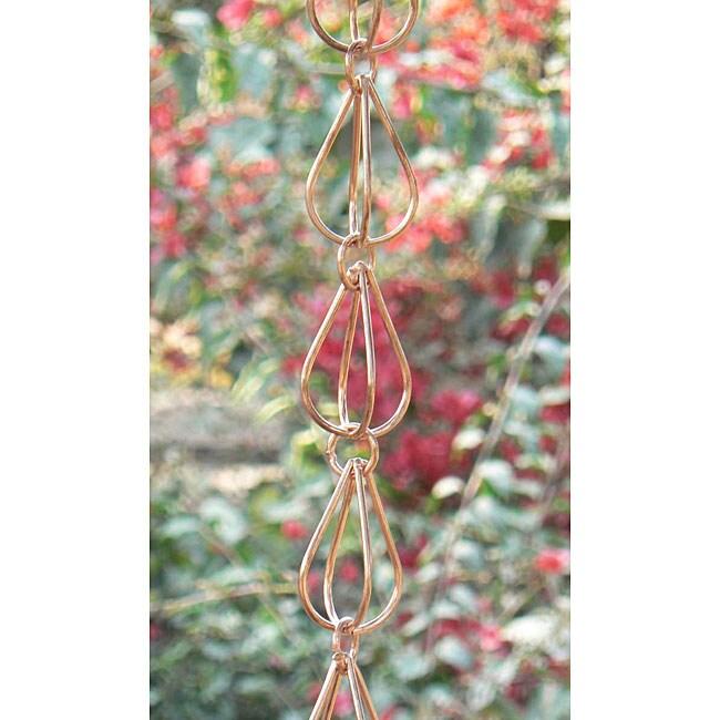 Teardrop Copper Rain Chain