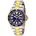 Invicta Men's Signature Automatic Two-tone Blue Dial Watch