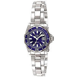 Invicta Women's 7060 Signature Stainless Steel Blue Dial Watch