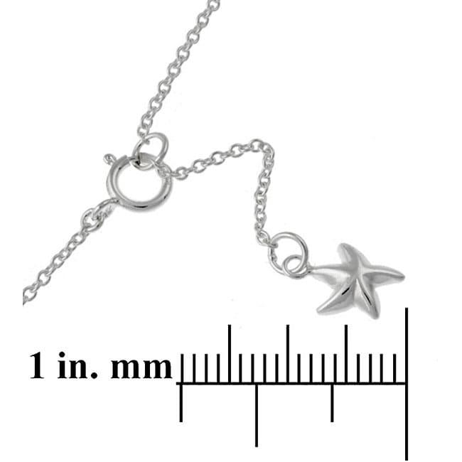 Mondevio Sterling Silver Starfish Anklet