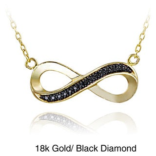 DB Designs Sterling Silver Diamond Accent Infinity Necklace