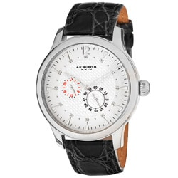 Akribos XXIV Men's Paros Automatic Multifunction Strap Watch