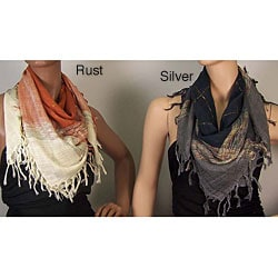 Open Weave Square Scarves (Set of 2)