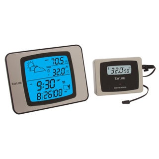 Taylor 1526 Wireless Indoor/ Outdoor Thermometer with Hygrometer and Atomic Clock