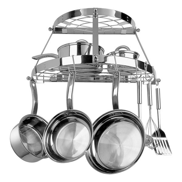 Range Kleen 2-shelf Wall-mount Pot Rack