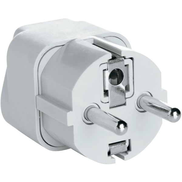 AC Grounded Adapter Plug for Europe, Middle East, Parts of Africa, Asia and Caribbean