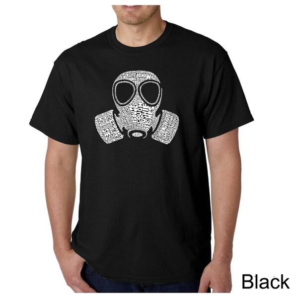 Los Angeles Pop Art Men's Gas Mask 'Fart' T-shirt