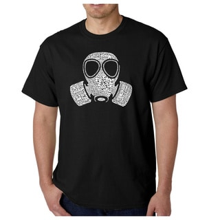 Los Angeles Pop Art Men's Gas Mask 'Fart' T-shirt
