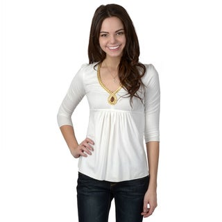 UAG Brand Juniors Gold Braid Babydoll Top
