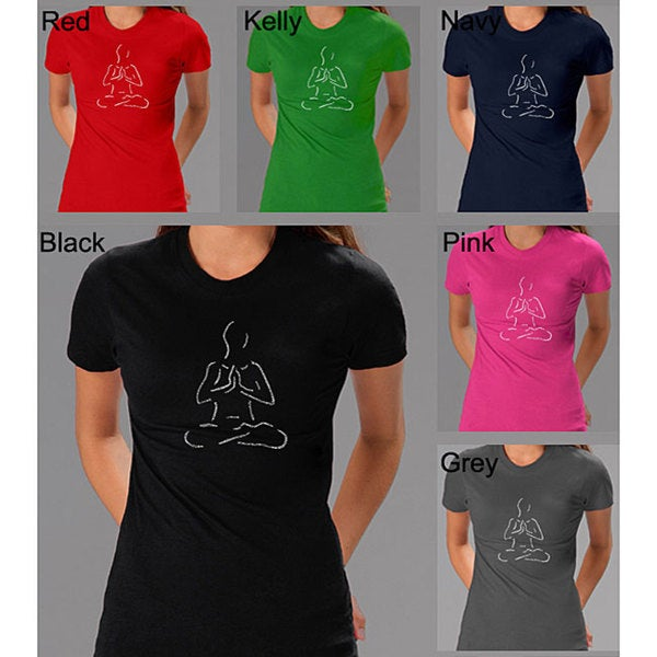 Los Angeles Pop Art Women's 'Yoga Poses' T-shirt