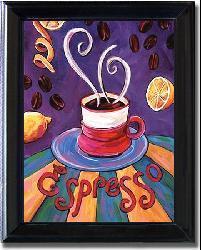 Ronda Ahrens 'Espresso' Framed Canvas Art