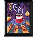 Ronda Ahrens 'Espresso' Framed Canvas Art