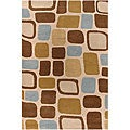 Hand-Tufted Contemporary Bold Mandara Rug (5' x 7'6)