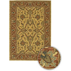 Hand-knotted Mandara Wool Rug (5' x 7'6)