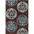 Hand-Tufted 100 Percent New Zealand Wool Mandara Rug (5' x 7'6)