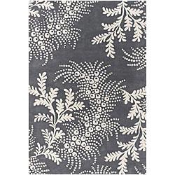 Hand-tufted Grey Mandara Mandara Rug (7'9 x 10'6)