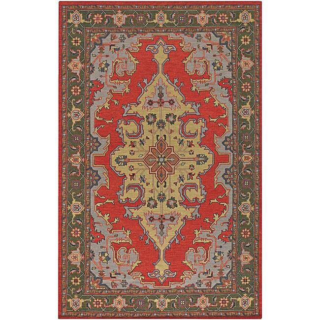 Hand-knotted Oranbe Mandara Wool Rug (7'9 x 10'6)