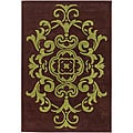 Hand-tufted Mandara Brown/ Green Rug (7'9 x 10'6)